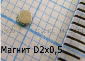 Магнит 2x0,5мм N33