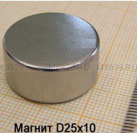 Магнит 25х10  N48Н (25кг)