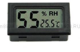 Миниатюрный измеритель влажности (гигрометр) с термометром.