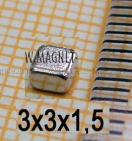 Магнит 3x3x1,5мм N33