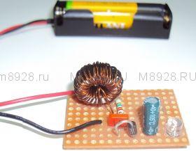 Радиоконструктор № 023, «Преобразователь напряжения для фонарика»